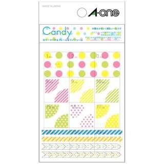手帳用シール Candy キャンディ 05250 [1シート /69面 /マット]