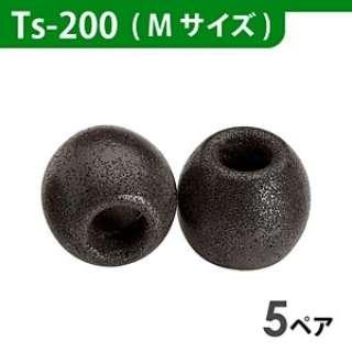 イヤーピース(ブラック/Mサイズ/5ペア) Ts-200BLKM5P