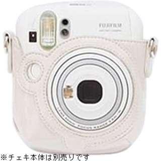 """カメラバッグ(速写ケース) """"チェキ"""" instax mini 25用(ホワイト)[生産完了品 在庫限り]"""