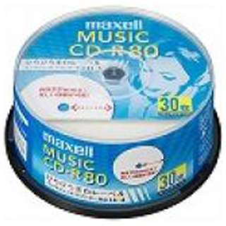 CDRA80WP.30SP 音楽用CD-R ホワイト [30枚 /インクジェットプリンター対応]
