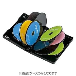 DVD/CD対応トールケース 10枚収納 ブラック DVD-TW10-01BK