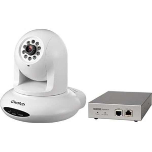 TS-PTCAM/POE ネットワークカメラ Qwatch(クウォッチ) ホワイト [暗視対応 /有線]