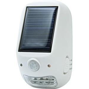 【防雨型】屋外用ソーラー式LEDセンサーライト NL57WH ホワイト