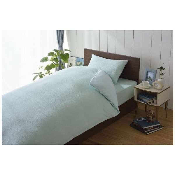【ボックスシーツ】綿マイヤー セミダブルサイズ(綿100%/120×200×30cm/ブルー)