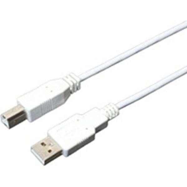 1.5m USB2.0ケーブル[スリムタイプ]【A】⇔【B】(白)USBB15SWH