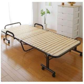 【折りたたみベッド】アイリスオーヤマ ハイタイプすのこベッド OTB-WH(シングルサイズ)