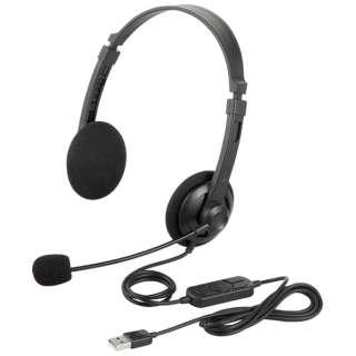 BSHSUH12BK ヘッドセット ブラック[USB /両耳 /ヘッドバンドタイプ]