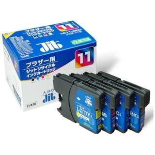 JIT-B114P ブラザー brother LC11-4PK 4色セット対応 ジットリサイクルインクカートリッジ 4色セット 4色セット