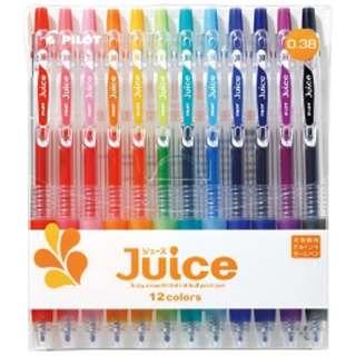 [ゲルインキボールペン] ジュース 12色セット(ボール径:超極細0.38mm) LJU-120UF-12C
