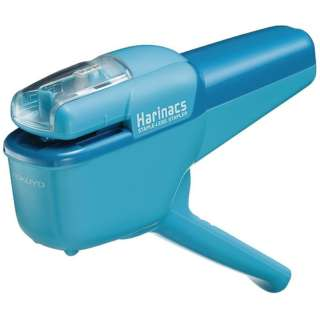 針なしステープラー「ハリナックス」ライトブルー(ハンディ10枚) SLN-MSH110LB