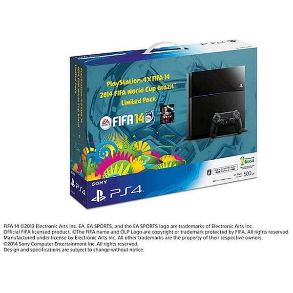 PlayStation 4 (プレイステーション4) ×FIFA 14 2014 FIFA World Cup Brazil Limited Pack [ゲーム機本体]