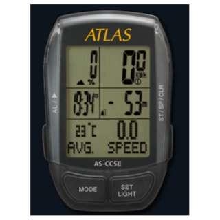 サイクルコンピュータ ATLAS AS-CC5II(ブラック)