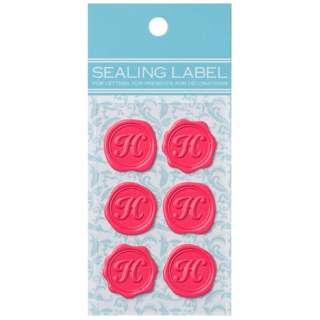 シーリングいろラベル「H」(名刺サイズ:1シート・6片/ピンク) ML099