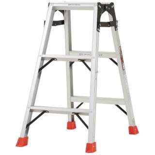 はしご兼用脚立 アルミ合金製・脚カバー付 高さ0.81m THK090