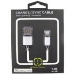 iPad/iPad mini/iPhone/iPod対応 Lightning-USBケーブル 充電・転送 (1.2m・ブラック) MFi認証 WAL-C002