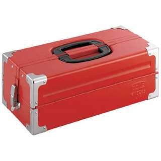 ツールケース(メタル) V形2段式 433X220X160mm レッド BX322S