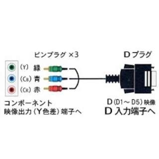1.5mD端子ケーブル(D端子⇔コンポーネント)FVC-DS15