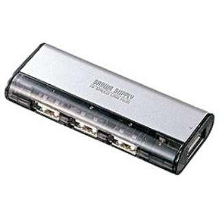 USB-HUB225G USBハブ シルバー [USB2.0対応 /4ポート /バス&セルフパワー]