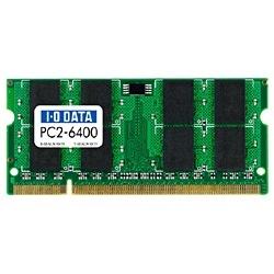 アイ オー データ アイ オー データ DDR2 S.O.DIMM PC2-6400メモリモジュール1GB SDX800-1G
