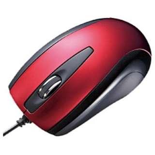 MA-111HR マウス レッド  [光学式 /3ボタン /USB /有線]