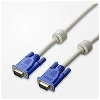 CRTディスプレイモニターケーブル (アナログ接続・1.8m・グレイ) V55 [D-sub15pin ⇔ D-sub15pin]