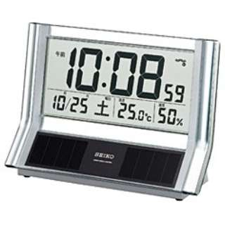 電波置き時計 SQ690S シルバー