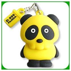 D-096 PANDA USB MEMORY D-096-P-02Y [2GB 黄]