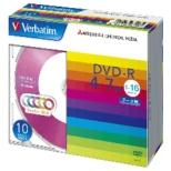 DHR47JM10V1 データ用DVD-R カラーミックス [10枚 /4.7GB]