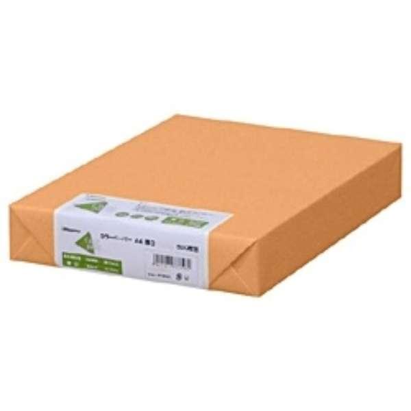 カラーペーパー 厚口 オレンジ (A4サイズ・500枚) ナ-3368