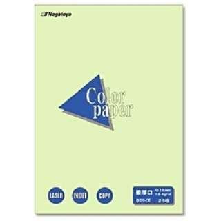 カラーペーパー 最厚口 若草 (B5サイズ・25枚) ナ-4506