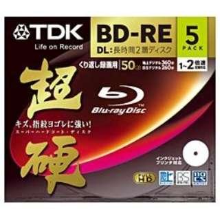 BEV50HCPWA5A 録画用BD-RE TDK ホワイト [5枚 /50GB /インクジェットプリンター対応]