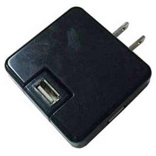 USB AC充電アダプタ(ブラック) IPA-01/BK IPA01BK