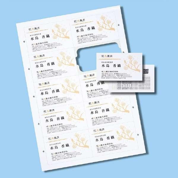〔各種プリンタ〕 まわりがきれいな名刺カード 1000枚 (A4サイズ 10面×100シート・白) JP-MCCM01-1