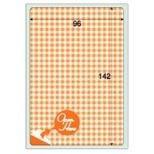 クラッポドロッププライバシール (105×148mm・5シート) オレンジ QP702S