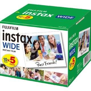 インスタントカラーフィルム instax WIDE 5パック(10枚入×5)