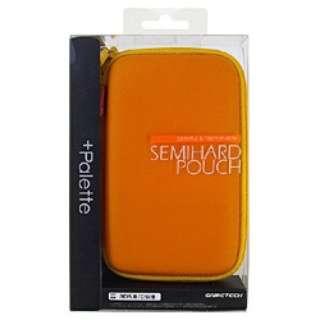 +Palette セミハードポーチ(サンセットオレンジ)【3DS/DSi/DSLite】