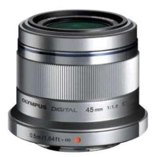 カメラレンズ 45mm F1.8 M.ZUIKO DIGITAL(ズイコーデジタル) シルバー [マイクロフォーサーズ /単焦点レンズ]