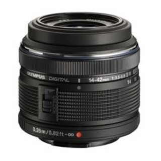 カメラレンズ 14-42mm F3.5-5.6IIR M.ZUIKO DIGITAL(ズイコーデジタル) ブラック [マイクロフォーサーズ /ズームレンズ]