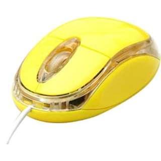 有線光学式マウス[USB&PS/2] OP-MOUSE (3ボタン・イエロー) OP-MOUSE-YE