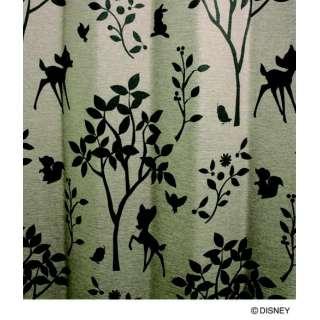 ドレープカーテン スウィートフォレスト(100×135cm/ブラウン)【日本製】