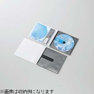 CD/DVD用スリム収納ソフトケース  1枚収納×30 ブラック CCD-DPC30BK