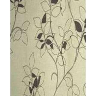 2枚組 ドレープカーテン モダンフラワー(100×178cm/アイボリー)