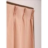 2枚組 ドレープカーテン モイス(100×178cm/ローズ)