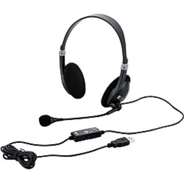 MHM-SU13BK ヘッドセット ブラック[USB /両耳 /ヘッドバンドタイプ]