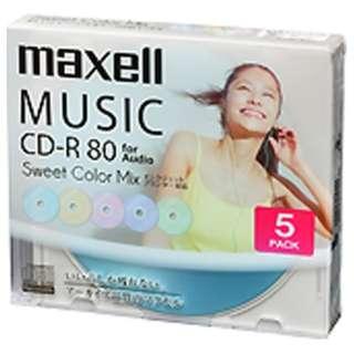 CDRA80PSM.5S 音楽用CD-R [5枚 /インクジェットプリンター対応]
