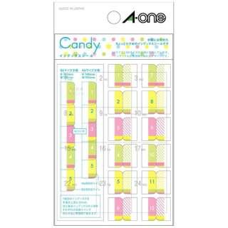 手帳用シール 2列×6段 Candy キャンディ 05241 [1シート /12面 /マット]