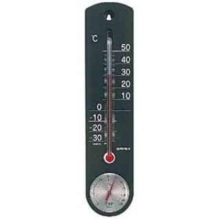 TG-6712 温湿度計 くらしのメモリー ブラック [アナログ]