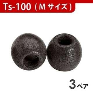 イヤーピース(ブラック/Mサイズ/3ペア)TS-100BLKM3P