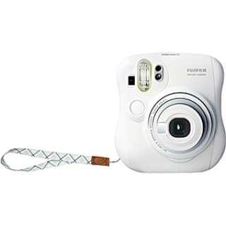 インスタントカメラ instax mini 25 『チェキ』 ホワイト 純正ハンドストラップ付き