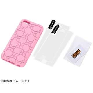 iPhone 5c用 シリコンジャケット フラワー・ジュエリー (ピンク) RT-P6C14/P